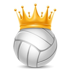 Volleyball ball in crown vector image vector image