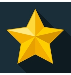 Yellow star gold star on black background vector image