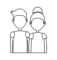 young couple happy icon vector image