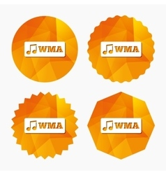 Wma music format sign icon musical symbol vector