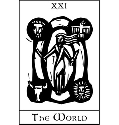 World Tarot Card vector image