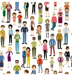 Seamless people pattern vector image
