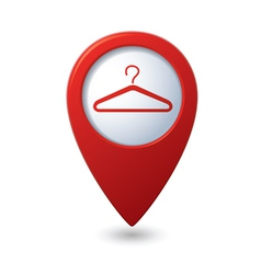 Map pointer with hanger icon vector image