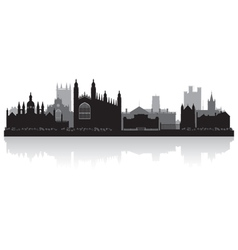 Cambridge city skyline silhouette vector image