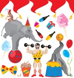 birthday circus acts vector image