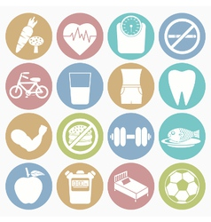 White icons health vector