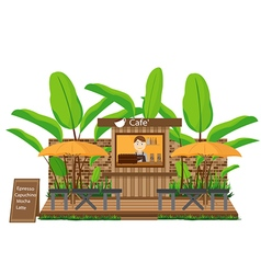 Coffee shop outdoor vector