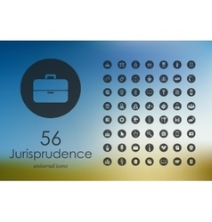 Set of jurisprudence icons vector