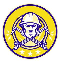 industrial welding symbol vector image