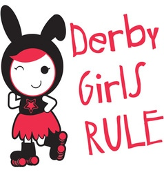 Roller derby - derby girls rule vector