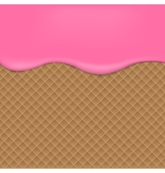 Pink wafer background vector