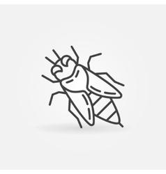 Honey bee linear icon vector image