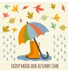 Autumn items vector