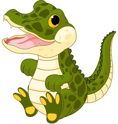 baby crocodile vector image vector image