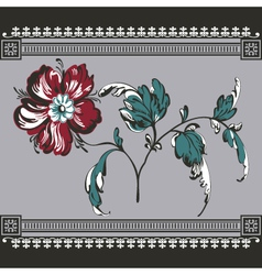 border vintage with flower vector image vector image