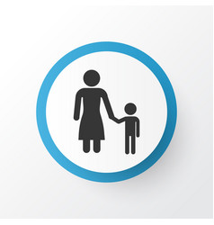 child icon symbol premium quality isolated madame vector image vector image