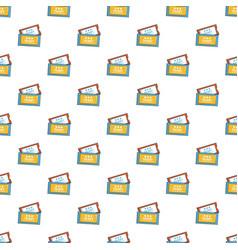 Cinema tickets pattern vector