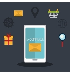 Digital marketing and ecommerce vector image