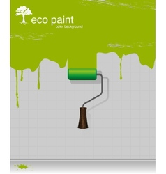 Drawing eco paint-roller vector