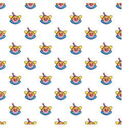 Funny clown head pattern vector