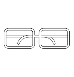 isolated glasses design vector image