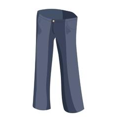 Jeans icon cartoon style vector