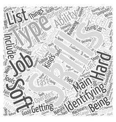 Jh identify your skillset word cloud concept vector