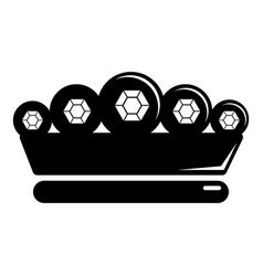 king crown icon simple black style vector image vector image