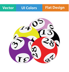 Lotto balls icon vector