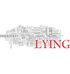 Lying word cloud concept vector