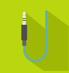 Microphone wire icon flat style vector