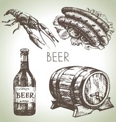 Oktoberfest set of beer Hand drawn vector image vector image