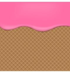 Pink Wafer background vector image vector image