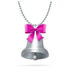 Ring Bell Hanging Chain vector image