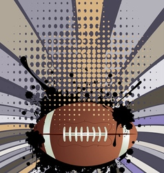 Rugby Ball on Rays Background3 vector image vector image