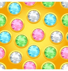 Seamless pattern with round jewels vector image