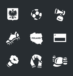 Set of poland icons vector