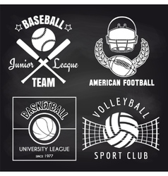 Set of sport banners on chalkbpard vector