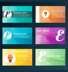 Set of templates for business cards elements for vector