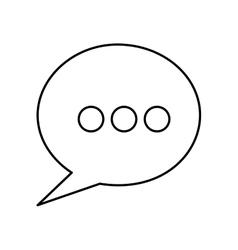 Speech bubble icon pictogram image vector