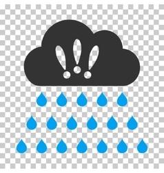 Thunderstorm Rain Cloud Icon vector image vector image