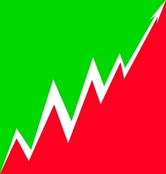 Up Arrow stylized Italian flag vector image vector image