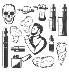Vape elements collection vector