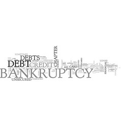 what bankruptcy can do for you and what it can t vector image