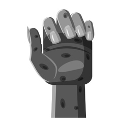 Zombie hand icon gray monochrome style vector