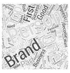 Personal branding for success word cloud concept vector