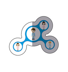 color family connection icon vector image