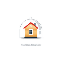 Real estate coverage icon protection system vector