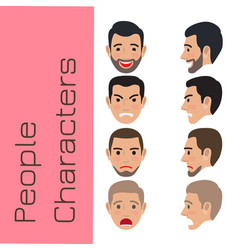 People emotions generator flat vector