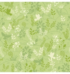 Green nature seamless pattern background vector